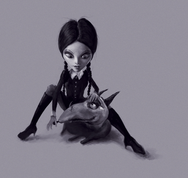 wednesday-addams-sketch